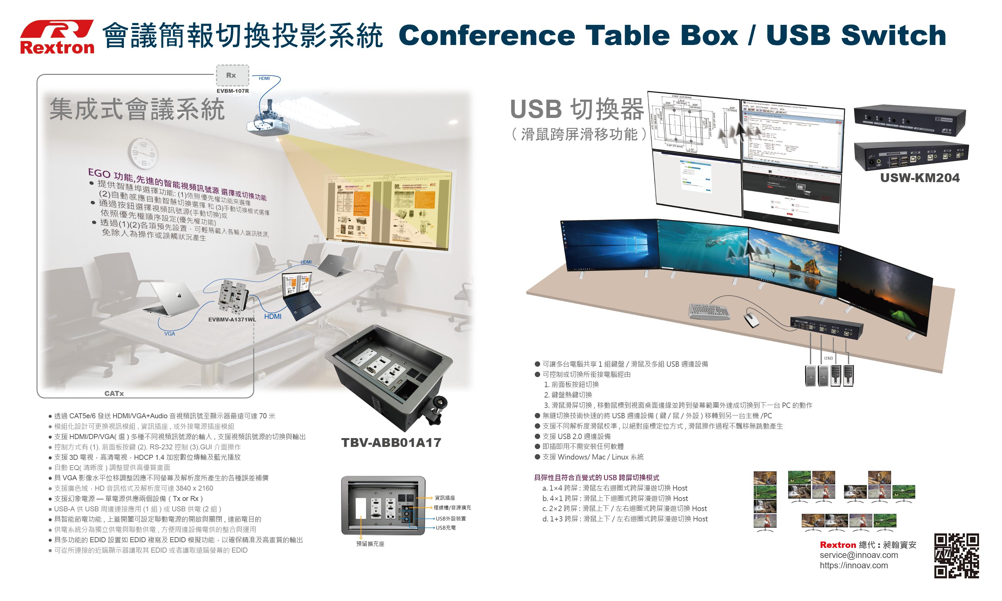 會議簡報切換,USB切換器