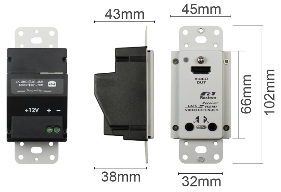 面板式HDMI延長器