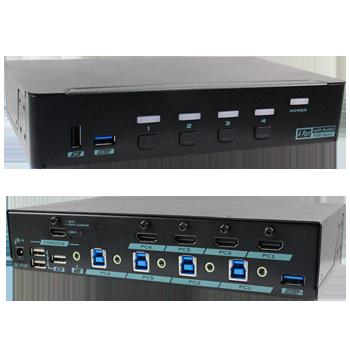 HDMI KVM切換器USB+Audio
